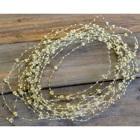 beaded wire garland 10 yards gold bd201 27