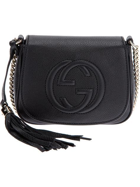 gucci soho crossbody bag in black lyst