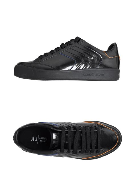 armani sneakers mens armani sneakers in black for lyst