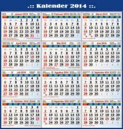 kalender 2014 beserta hari libur nasional dan