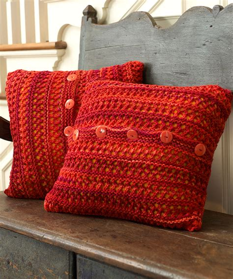 Pillow Knitting Patterns by Button Up Chair Pillow Knitting Pattern