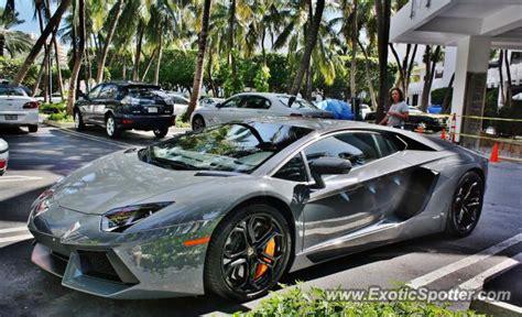 Lamborghini Of Florida Lamborghini Aventador Spotted In Miami Florida On 10 06