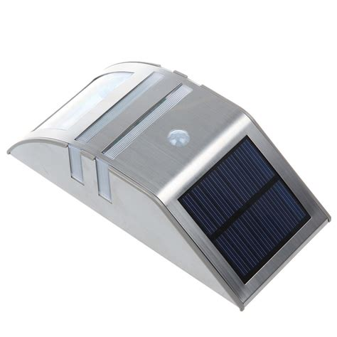 led solar powered stainless steel pir motion sensor light