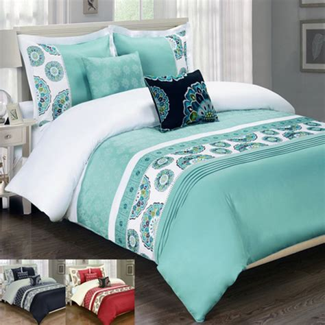 egyptian cotton comforter set egyptian bedding chelsea embroidered multi piece 100