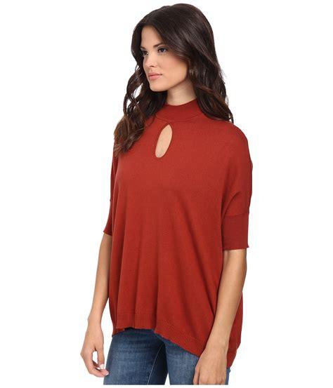 catherine malandrino tania sweater in orange lyst