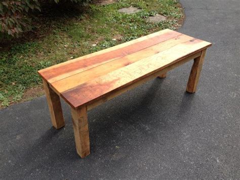 reclaimed maple and pine wood coffee table 48 quot length