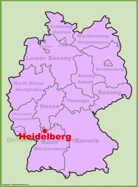 germany location map heidelberg maps germany maps of heidelberg