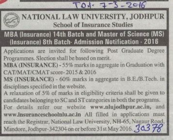 Jodhpur Mba Colleges List by National Nlu Jodhpur Rajasthan