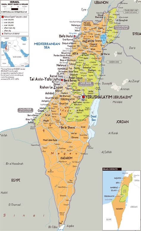maps of jerusalem maps of israel detailed map of israel in