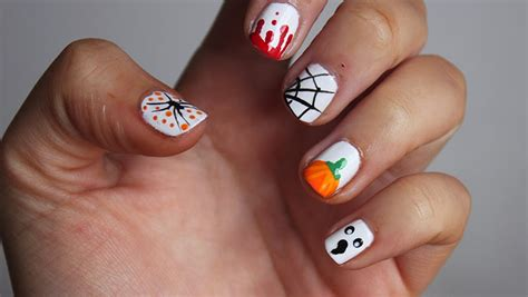 easy nail art halloween easy halloween nail art ideas a little obsessed