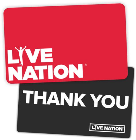 Live Nation Gift Card Purchase - live nation gift cards