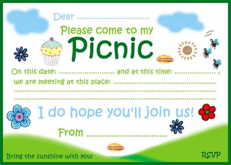 Invitation Letter Format For Picnic Picnic Invitation Rooftop Post Printables