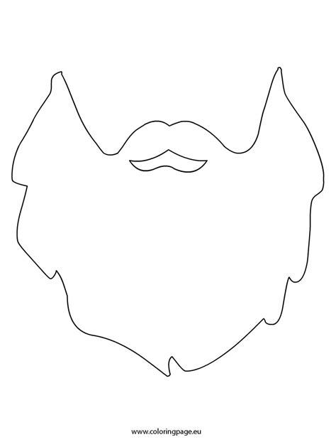 beard template printable beard template coloring page