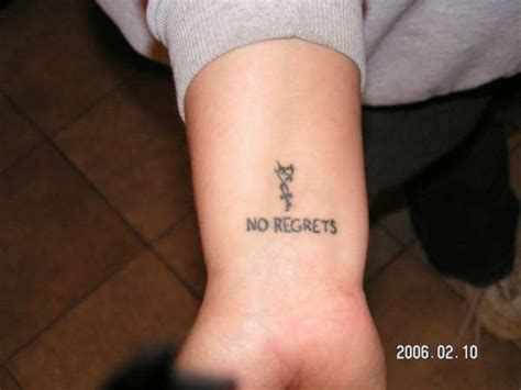 no regrets tattoos no regrets