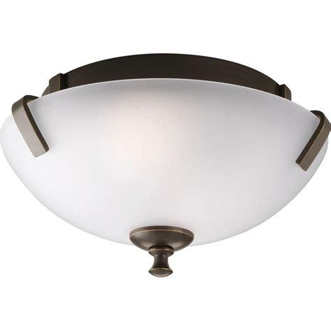 Progress Lighting Wisten Collection 2 Light Antique Bronze Home Depot Flush Mount Ceiling Lights