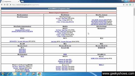 Ignou Mba Date Sheet by How To Ignou Assignments