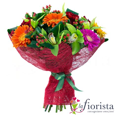 fiori gerbere vendita bouquet funebre con gerbere arancio e fiori di