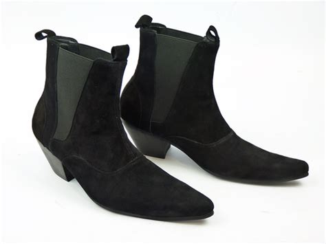 Chelsea Bs Wristbands madcap outlaw retro mod cuban heel chelsea boots suede