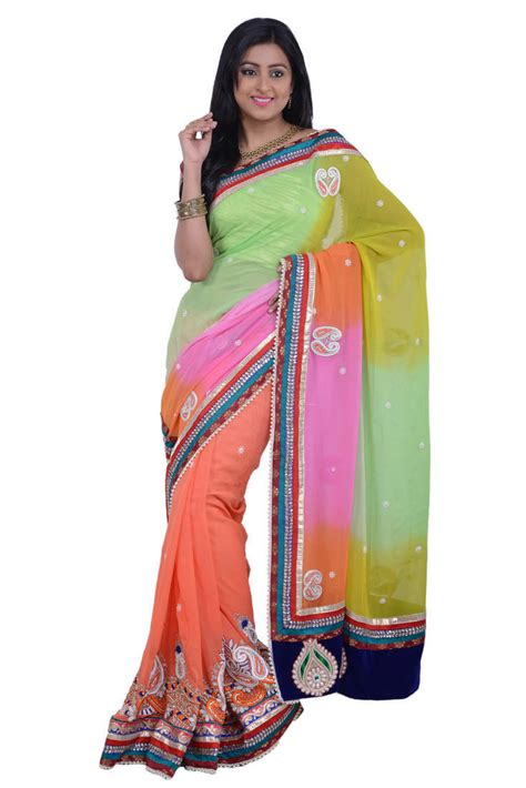Motti Blouse buy multi color work in border and motti work