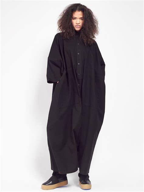 Jumpsuit Scuba Aw Quality unisex 69 big button up jumpsuit black garmentory