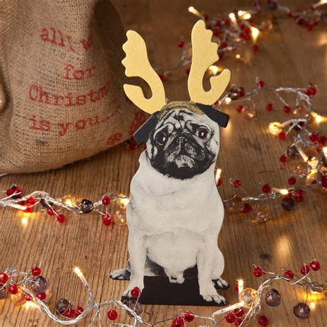 pug dog christmas decoration by spotted