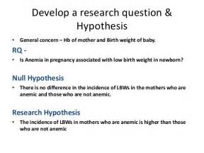 Hypothesis Template research question and hypothesis