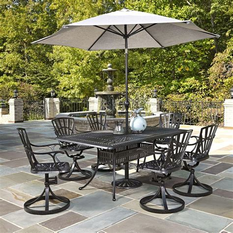 outdoor patio set with umbrella home styles largo 7 outdoor patio dining set with