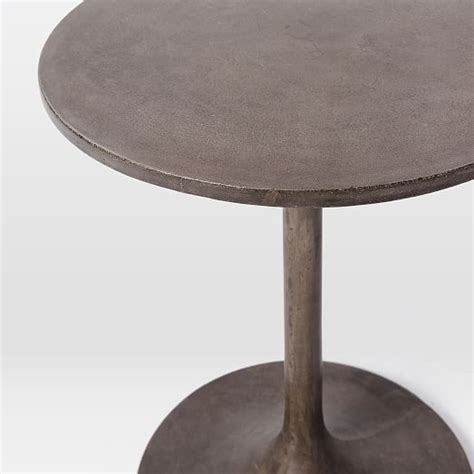 Concrete Side Table Concrete Pedestal Side Table West Elm
