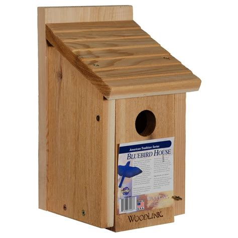 the bird house woodlink bluebird bird house bb1 the home depot