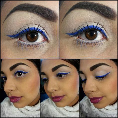 Eyeliner Harajuki 2 In 1 sephora s blue eyeliner and blue mascara on bottom