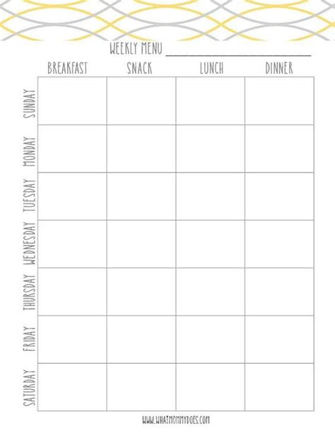 printable weekly meal plan template super cute menu planner finally  organized