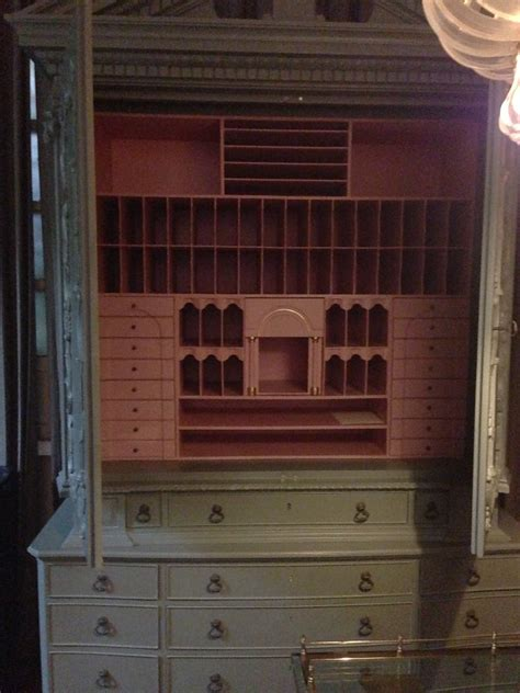 secretary armoire my best friend craig two toned secretary armoire