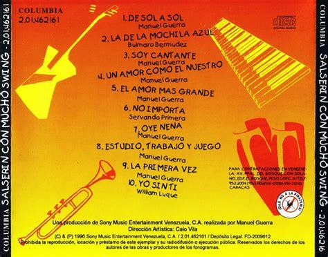 Car 225 Tula Trasera De Orquesta Salserin Con Mucho Swing