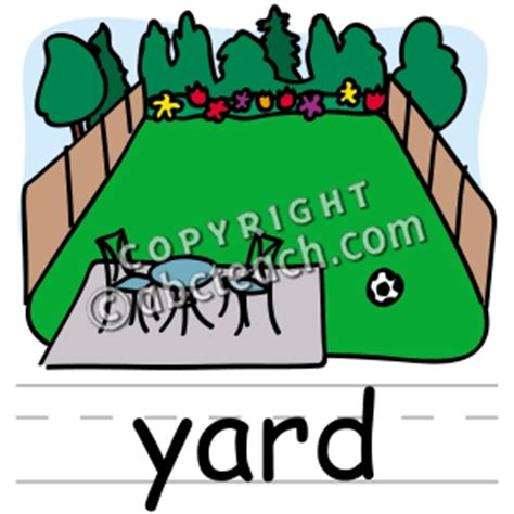 Is Backyard One Word by Clip Basic Words Yard Color Labeled Abcteach