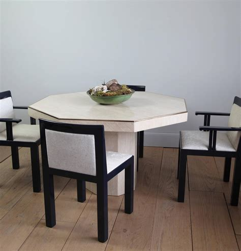 octagonal travertine italian dining table travertine