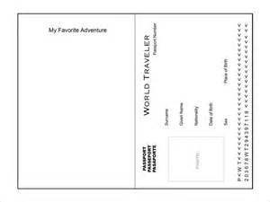 passport template for printable passport template 19 free word pdf psd illustrator