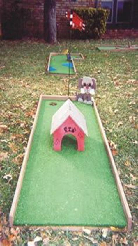 backyard mini golf game mini golf on pinterest golf carnival games and backyard games