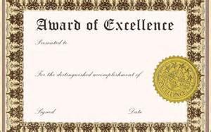 award certificate templates word blank award certificate templates word sle