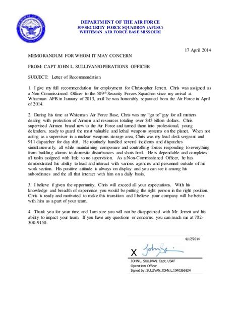 Character Reference Letter Homeland Security chris jerrett letter of recommendation