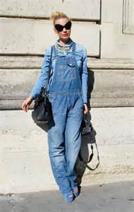 denim overalls looks for women 2017