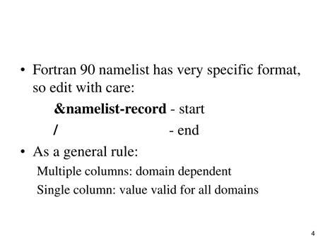wrf online tutorial namelist input ppt wrf namelist input powerpoint presentation id 667883