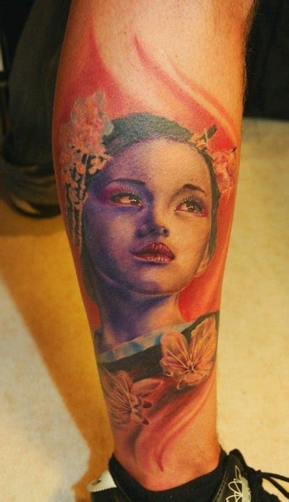 geisha en tattoo tatuajes de geishas en la pierna geisha tattoo