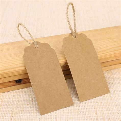 How To Make Paper Tags - mini gift tags hang cards brown blank recycled paper