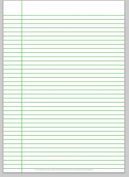 Make Lined Paper - notebook paper make with