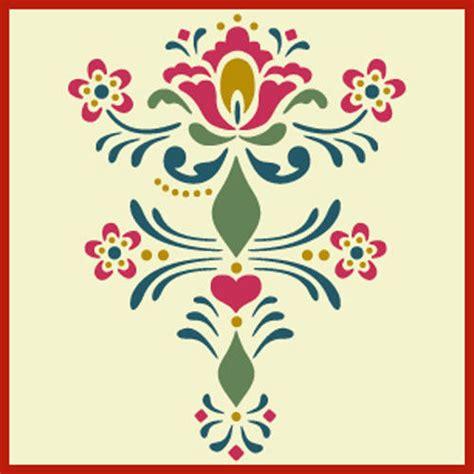 scandinavian pattern history rosemaling pattern 9 stencil swedish kurbits the artful