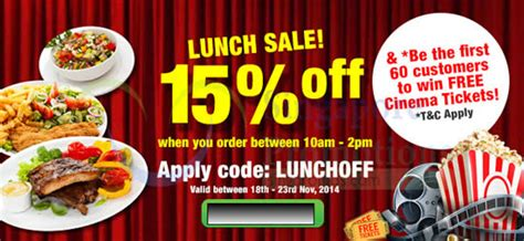 room service singapore food delivery room service food delivery 15 coupon code 18 23 nov 2014