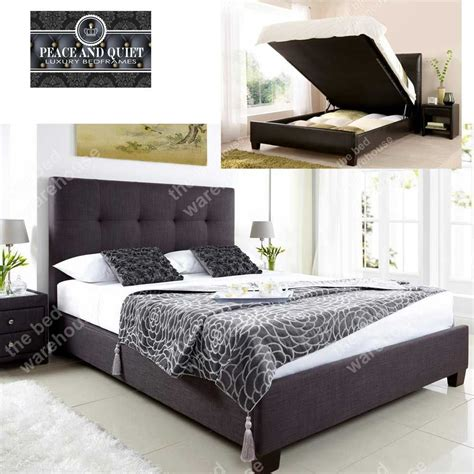slate bed frame walker slate fabric ottoman storage bed frame
