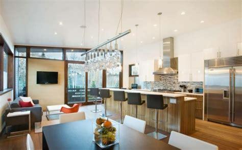 Supérieur Cuisine Ouverte Avec Bar #1: cuisine-ouverte-sur-la-salle-%C3%A0-manger-int%C3%A9rieur-moderne-un-grand-bar.jpg
