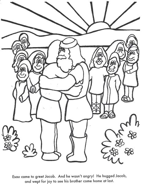 jacob and esau twins coloring page week 14 jacob makes amends