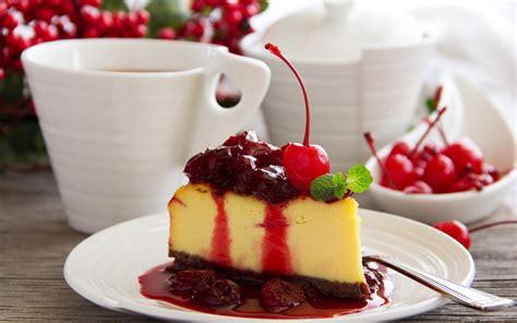 Desert cake chery sweet food wallpaper   2560x1600